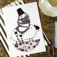 Always time for tea- Welsh Lady Small Poster Print