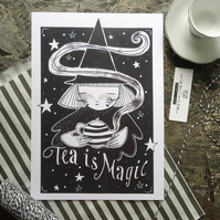 Tea is magic- Large Poster Print