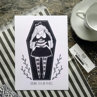 Coffin girl- Small Poster Print