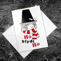 Single Christmas Card- Ho Blydi Ho