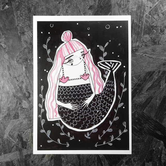 Mermaid: Small Poster Print