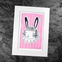Bunny head- Original Artwork by Twinkle & Gloom