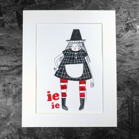 Welsh Lady- IeIe- Original Artwork by Twinkle & Gloom