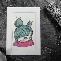Knitterr- Original Artwork by Twinkle & Gloom