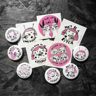 Twinkle & Gloom badge and Sticker set
