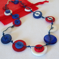 Nautical Button Necklace