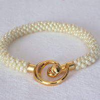 Pearly Kumihimo Bracelet