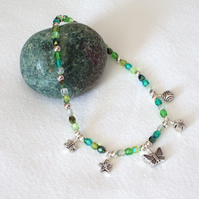 Emerald Green Charm Anklet