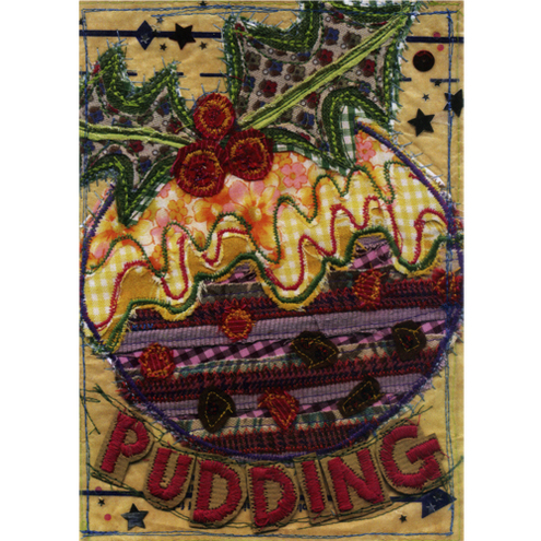 'Christmas Pudding' Christmas card