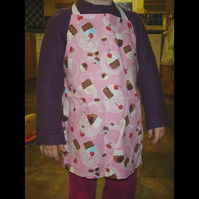 Childrens Pink cupcake Apron age 1-4 years