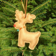 Personalised Reindeer Christmas Decoration