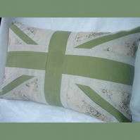 Union Flag Cushion - blue floral