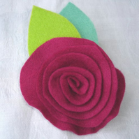 SALE - Felt Flower Brooch