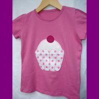 Custom order for LazyDaisyDesigns-Pink Cupcake T-shirt