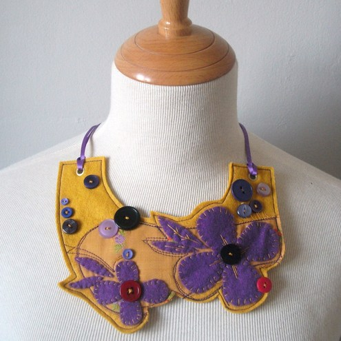 #SALE#Statement Felt Necklace by More Cake...