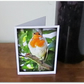Garden Robin.  Greetings card.