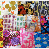Fabric destash!  A bundle of twelve fabric pieces, perfect for small projects.