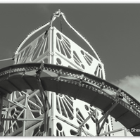 Helter Skelter. A monochrome print measuring 20cm x 25cm. (8 x 10 inches)