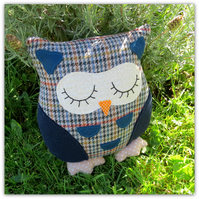 Archie, a 23cm tall owl cushion.