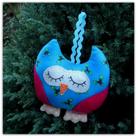 A Christmas Owl. Hanging decoration.