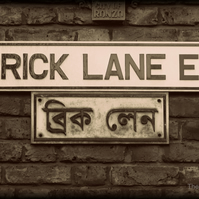 Brick Lane,  London.  A 29cm x 20.5cm print.  ( 11.4 inches x 8 inches )