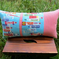 A quirky toothpaste themed cushion complete with cushion pad.