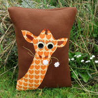 SALE!!!  Giraffe.  A soft and tactile cushion complete with cushion pad.