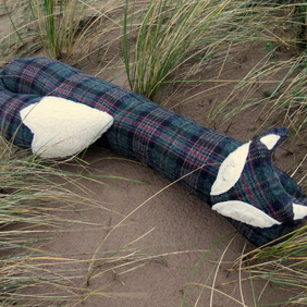 A snoozy fox draught excluder.  90cm in length.  35.5 inches.