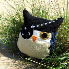 The bearded pirate.  A pirate owl cushion.