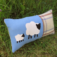 SALE!!!  Sheep.  A soft and tactile cushion made from Welsh wool.