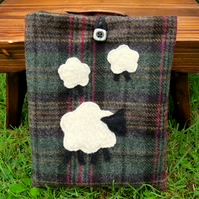 Ipad sleeve. A tartan wool cover to fit an Ipad.