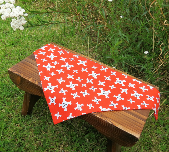 A doggy bandana.  Size medium,  60cm x 28cm.