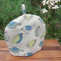 Tea for one!  A whimsical bird tea cosy.  To fit a 1 cup teapot.