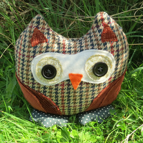 Humphrey, an owl doorstop.  Owl bookend.