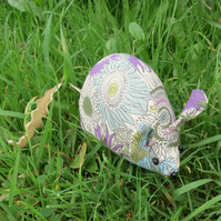 A field mouse pin cushion, made from Liberty Lawn.