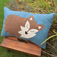 SALE!!!   Fox cushion, complete with cushion pad.  Fox pillow.