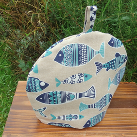 Fish.  A fish design tea cosy, to fit a 2 - 3 cup teapot.
