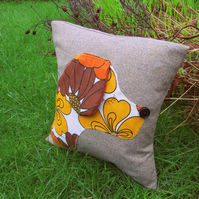 Marigold, a groovy dog cushion.  Complete with feather pad.