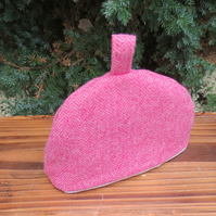 The Stumpy teapot cosy. A herringbone wool cosy to fit a one cup teapot. Size XS