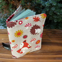 Whimsical woodland.  A fabric passport sleeve.