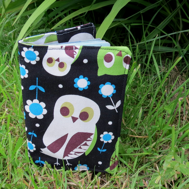 Owl.  A whimsical passport sleeve.  Passport cover.