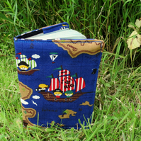 Pirates.  A nautical passport sleeve.  Passport cover.