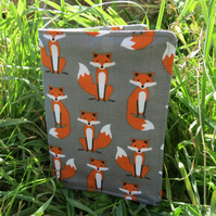 Mr Fox.  A passport sleeve with a whimsical fox design.