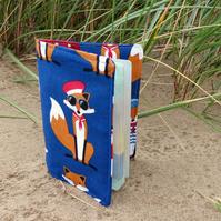 Mr Fox.  A passport sleeve with a nautical fox design.  Passport cover.
