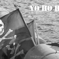 Yo Ho Ho!  A card featuring an original photograph. Blank inside.