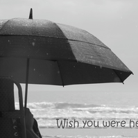 Wish you were here!  A card featuring an original photograph.  Blank inside.