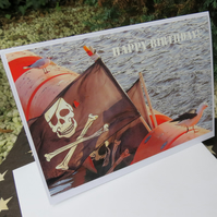 Yo Ho Ho!  A card featuring an original photograph. Blank inside. Birthday.