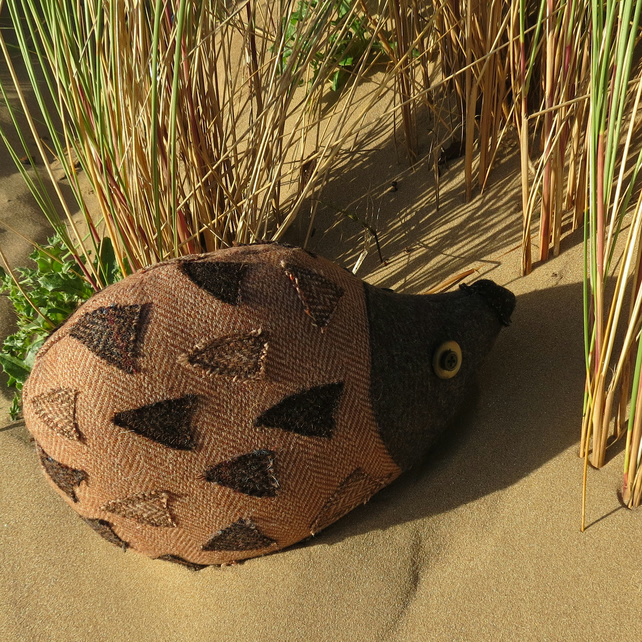 Sale  A hedgehog doorstop made from tactile wool.