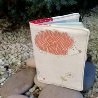 Hedgehogs.. A passport cover with a whimsical hedgehog design. Passport sleeve.