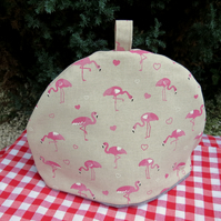 Flamingos.  A tea cosy, size large.  To fit a 4 - 5 cup teapot.